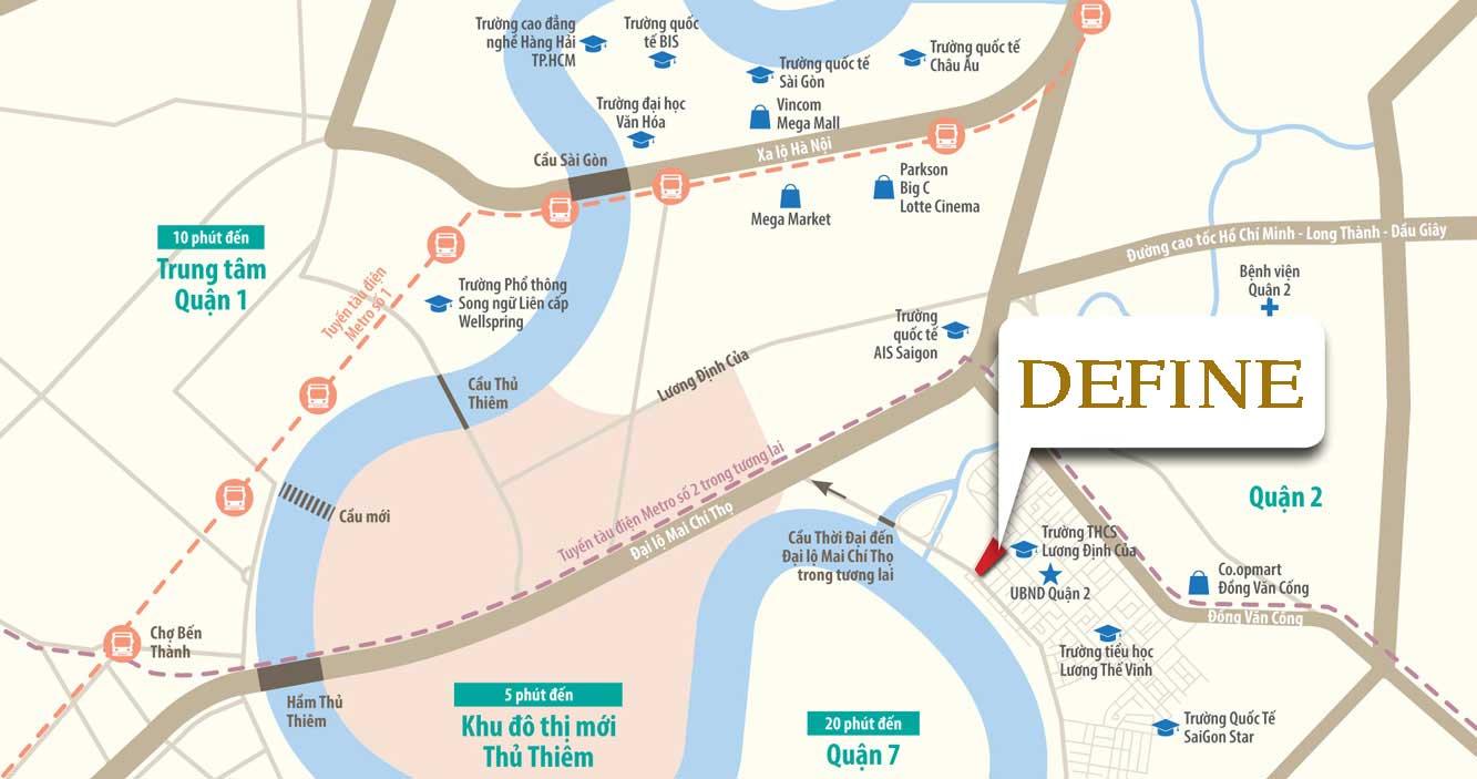 Vị trí dự án căn hộ Define nổi bật
